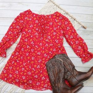 🍁 Free People Court Me Floral Tunic Top